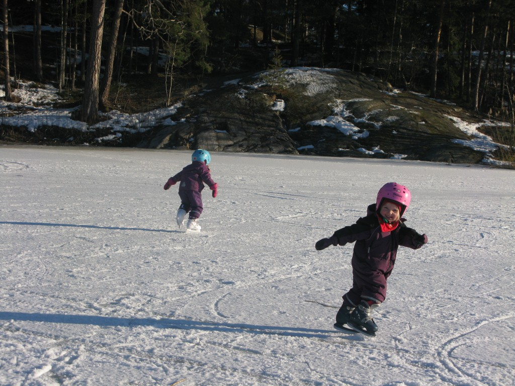 Wow! En frusen sjö! Kunde ni åka skridskor?!