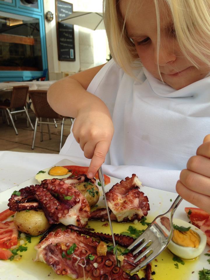 Kul med barn som inte är så kinkiga med maten som våra! Allt från havet gillades!