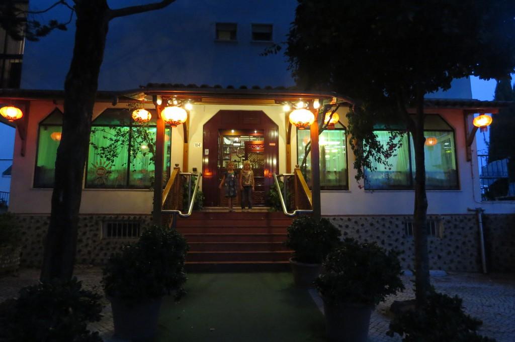 Efteråt firade vi med middag på restaurang. Frida önskade vårrullar så det fick bli kinakrog!