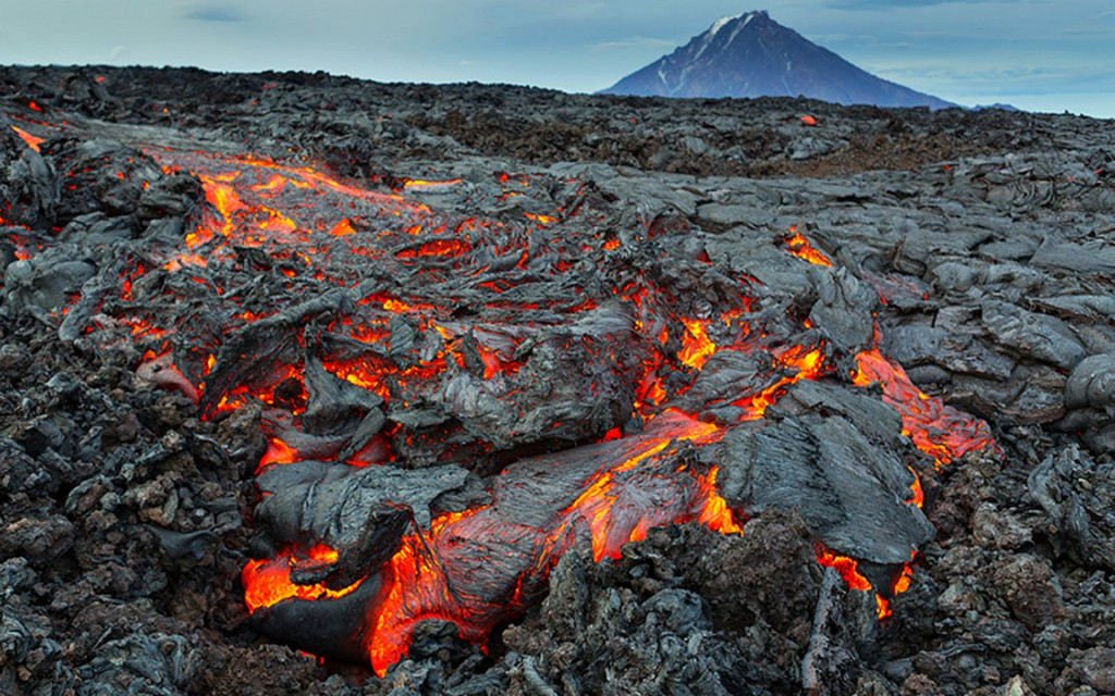Lava Flow Wide Desktop Background