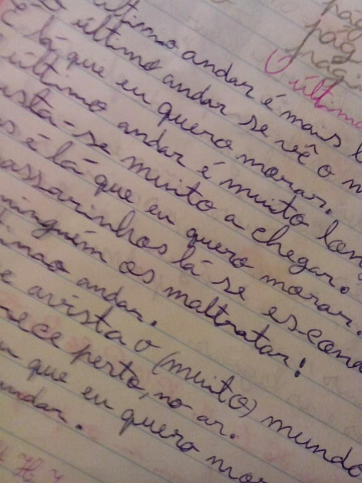 Skrivstil från årskurs 1. Här Fridas.