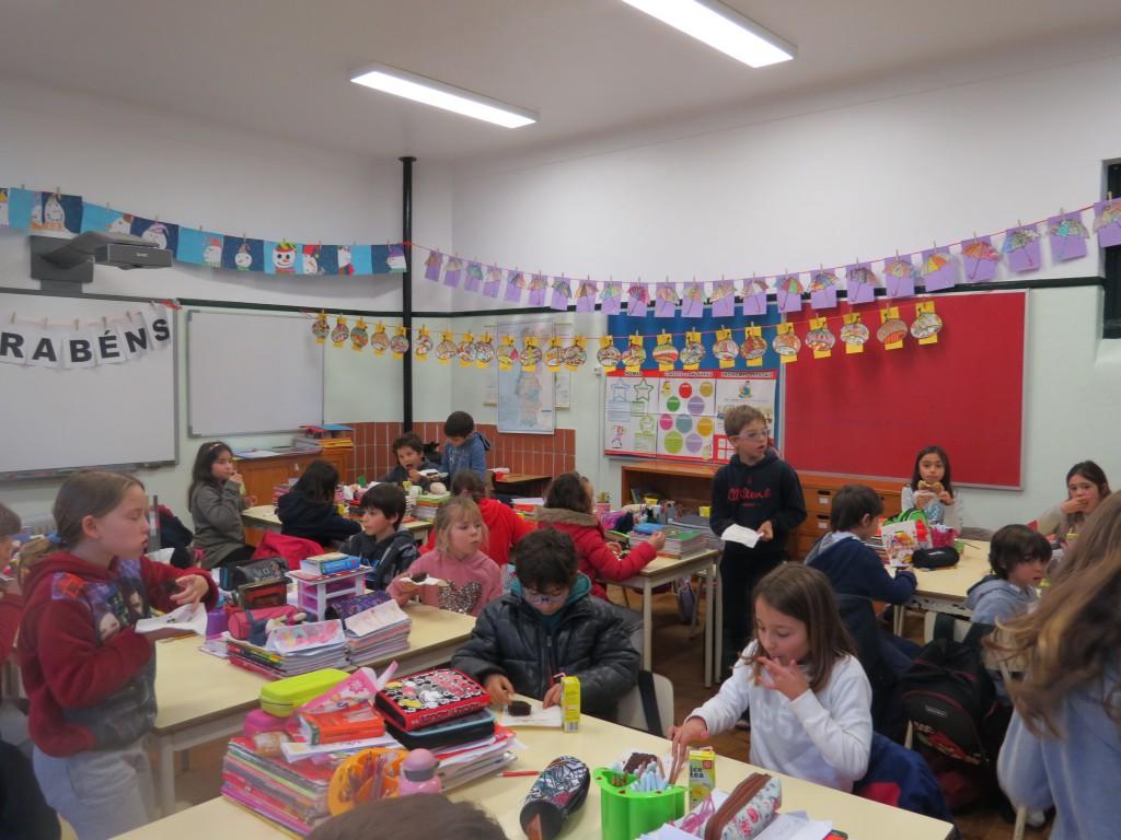 Fridas klassrum förra veckan när vi firade hennes 10-årsdag