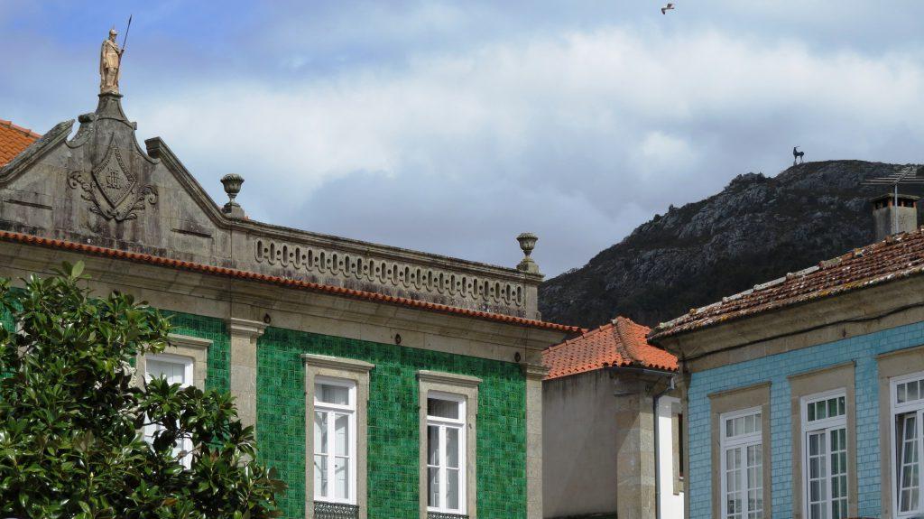 Hjorten på bergstoppen, sedd från Vila Nova de Cerveira.