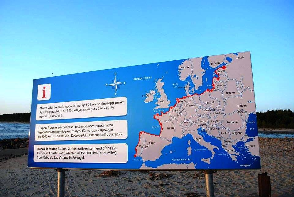 E9. European Coastal Path heter den.