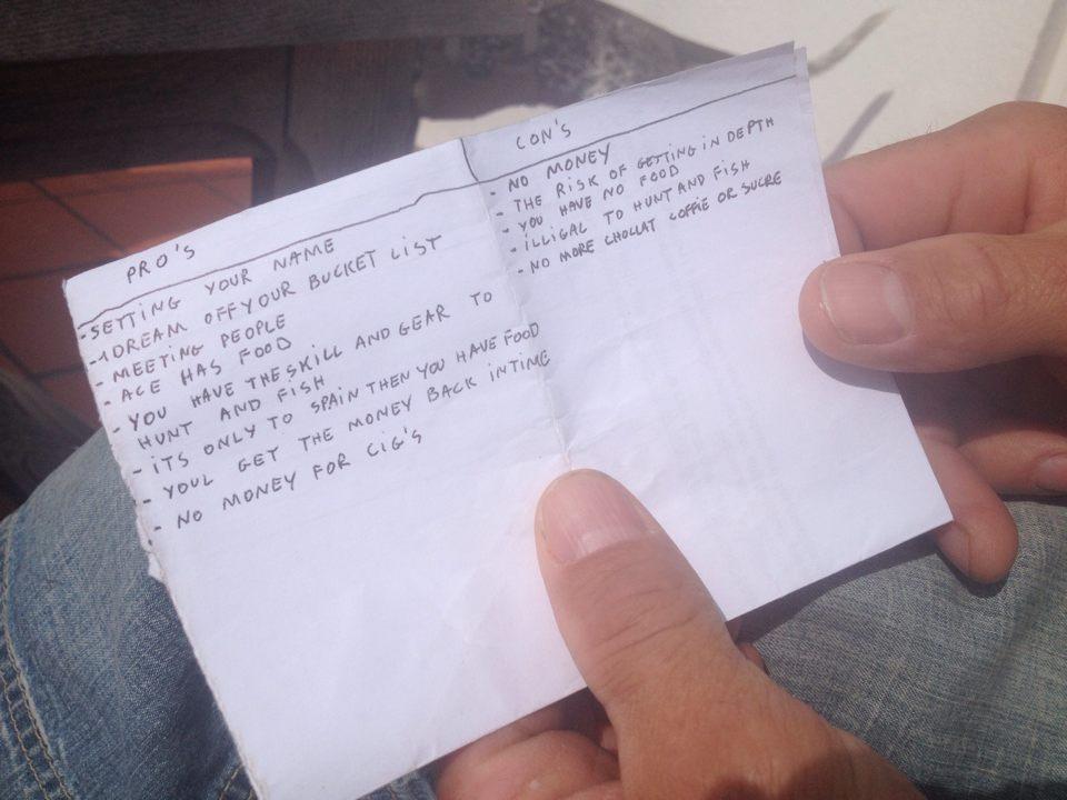 Snubbens lista över plus och minus (fortsätta utan pengar eller ej)