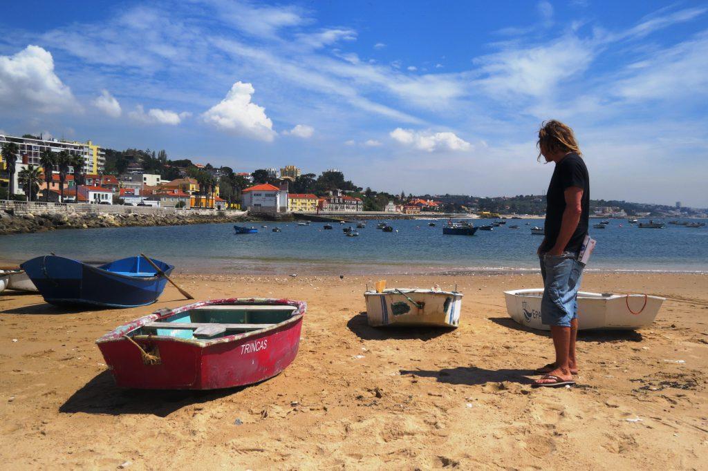 Sverker kollar in båtarna i Paco de Arcos, Lissabon. I fredags.