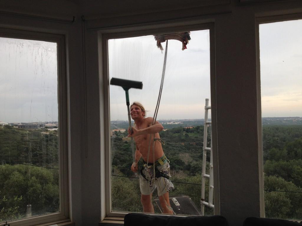 Tvättat fönstren till och med!
