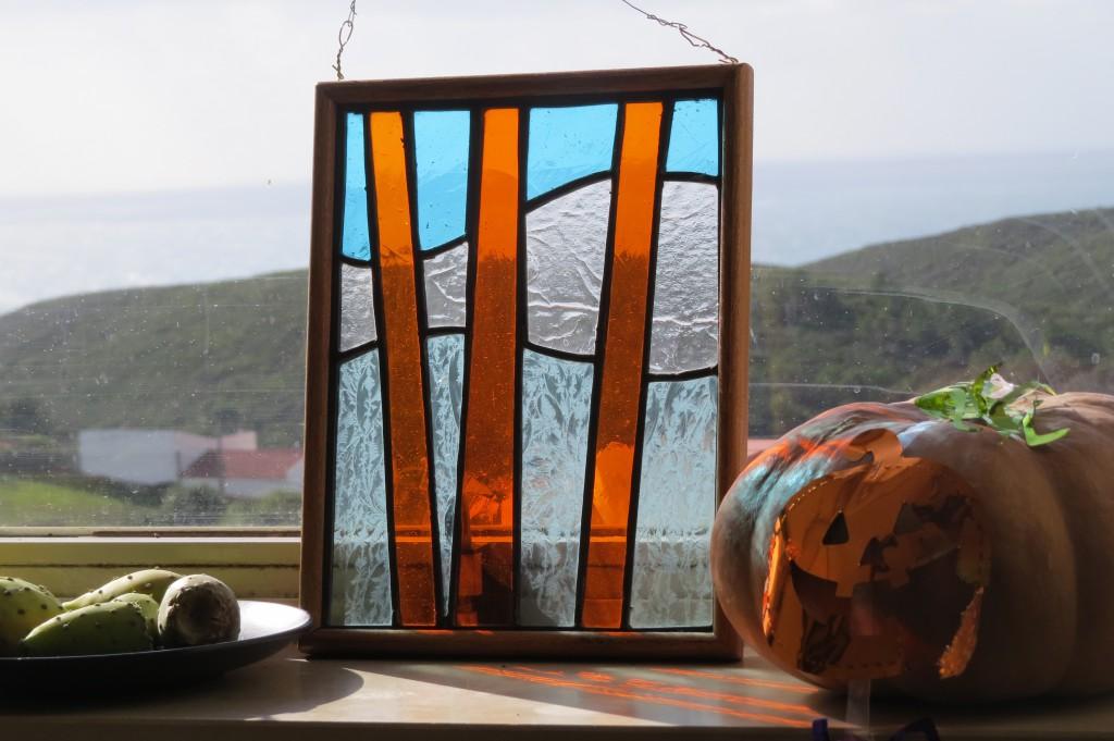 Vacker glaskonst som Catrina gjort och tagit med till oss!