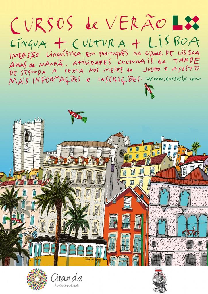 Fin affsich med reklam för sommarkurser i portugisiska kulturen och språket
