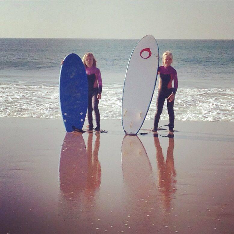 Men vi har också surfat och skejtat!
