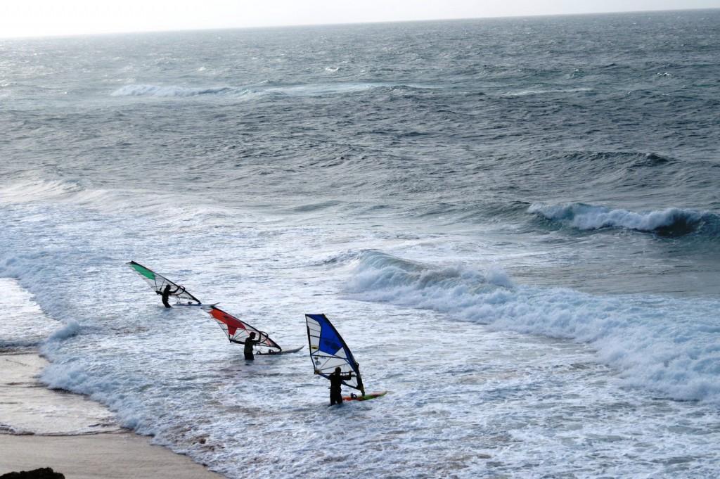 En vindsurfingdag hittills i december.