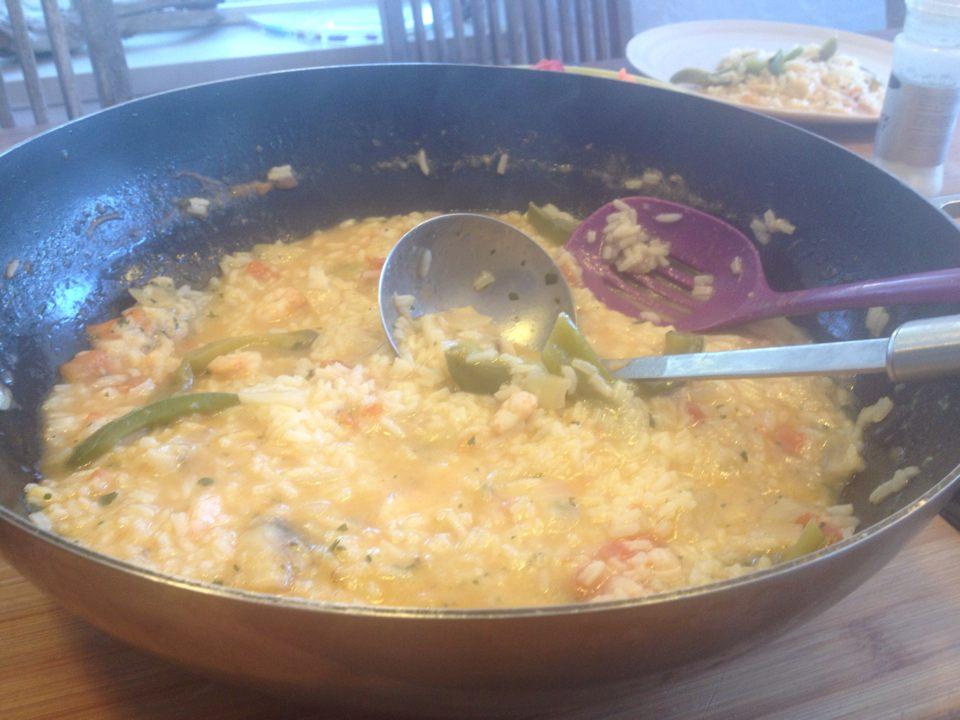 Arroz de tamboril, en portugisisk paella med marulk, chili och koriander