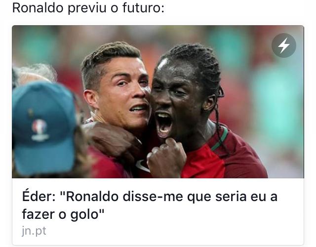 """""""Ronaldo sa att det skulle bli jag som gjorde målet!"""" Ronaldo är synsk! """"Omnipresente"""" är ett annat ord som nämndes om Ronaldos närvaro/roll i matchen"""