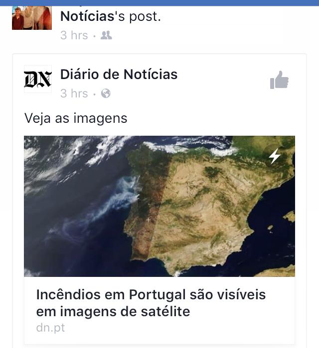 Bränderna i Portugal syns från satelliterna i rymden!!